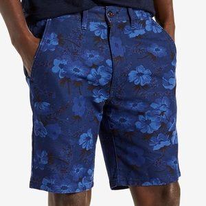 NWT Levi's Men's Blue Calliope Print Chino Shorts